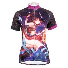 (37.15$)  Watch here - http://aiyhu.worlditems.win/all/product.php?id=32791236027 - Free Shipping Womens Black Cycling Jerseys Comfortable top bike Mujer Halloween Little Witch Cycling Clothing Size XS-6XL
