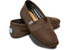 Finally bought myself a pair of TOMS.  Chocolate Herringbone Women's Classics (true to size or one half size up) $54