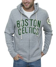 Take a look at this Boston Celtics Heather Gray Zip-Up Hoodie by Junk Food on #zulily today!