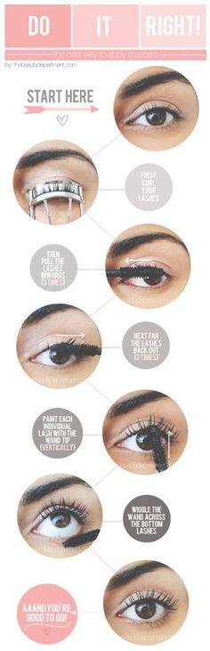 how to apply mascara tutorial
