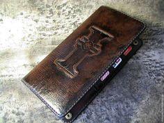 """Купить Кошелёк """" Dark Heresy"""" - кошелек, кошелек из кожи, кошелек мужской, персональные подарки"""