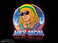 Hey-Mon pop art parody MOTU jamaica rasta reggae He-Man island life sunglasses neon cool radic Cultura Pop, Caricatures, Hee Man, Pop Art, 1980s Pop Culture, Geek Culture, Pop Albums, Reggae Music, Vinyl Cover