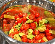 palm salad (heart of palm + tomatoes + avocado + lime juice + cilantro ...