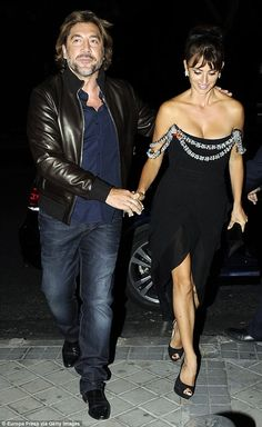 Cute couple: Penelope Cruz and husband Javier Bardem made time for a post-premiere date night as they headed to the Ma Ma after-party in Madrid, Spain, on Wednesday