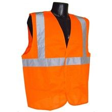 Radians Hi Vis Orange Solid Vest Class 2 SV2OS | Hi Vis Safety Direct will beat any other price , we are #1 in Hi Visibility Items .