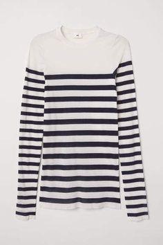 a3e8c67b9c Muji Women Organic Cotton Wide Count Panel Stripe Long Sleeve T ...