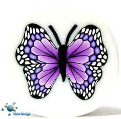 Polymer Clay Canes, Polymer Clay Projects, Diy Clay, Clay Crafts, Butterfly Crafts, Butterfly Art, Clay Fairies, Mosaic Garden, Clay Design