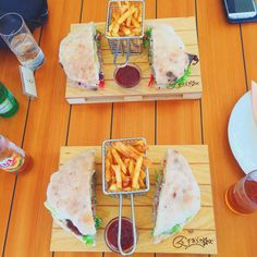 Burgers at a restaurant called Yolo in Croatia