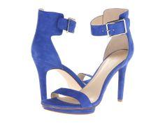 blue heels.