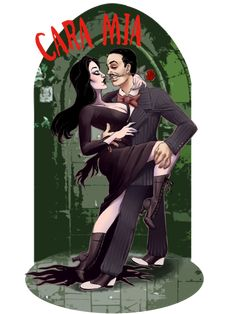 by *quotidia on deviantART ~ Gomez & Morticia Addams