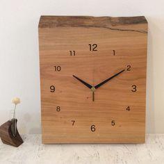 無垢の木の掛け時計 C16-C9-サクラ
