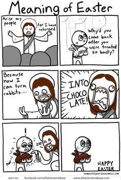 Easter finally makes sense... (Páscoa finalmente faz sentido)