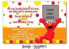 Elmo sesame street birthday party invitations birthday invitation invitation elmo invitation wording idea filmwisefo