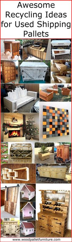 Pallets are great to reuse either a person wants to create a furniture piece to fulfill the demand in the home or to create a wall art for the decoration purpose because they are not costly and most of the individuals have them in their home. So, they just require giving some time to the modification and need to learn how to use the tools properly to copy the awesome recycling ideas for used shipping pallets that we are going to show you here.