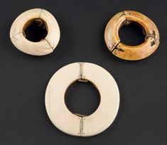 Africa | 3 Ivory bracelets from the Dinka people of Sudan | 800€ ~ Sold