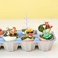 mini egg landscape via my so called crafty life
