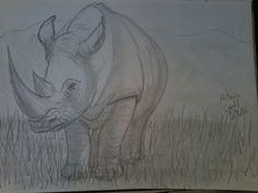 #illustration #ilustração #sketch #sketchbook #draw #drawing #desenho  #art  #dibujo  #doodle #rinoceronte #rhino #sketchoftheday