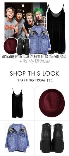 """""""Celebrating my Birthday by going to the Zoo with 5sos + Its My Birthday"""" by albamonkey ❤ liked on Polyvore featuring Enza Costa and Redopin"""