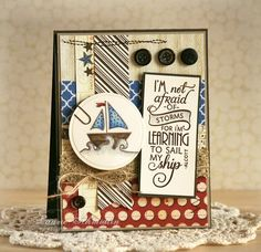 Card by Laurie Schmidlin using Learning to Sail from Verve Stamps. #vervestamps