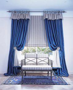 Silk Curtains on Pole