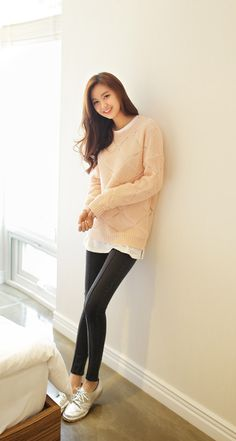 #다홍 #니트 #심플 #dahong #knit #simple #파스텔 #pastel