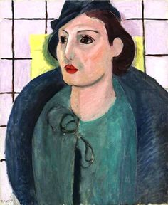 Henri Matisse - Portrait of Titina Trovato in a dress and hat, 1934.