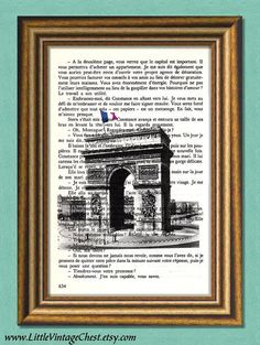 Items similar to PARIS - Arc de Triomphe - Dictionary art print -Book page print- Antique Book Page upcycled on Etsy Dictionary Art, Paris, Decoration, Art Prints, Buy 1, Black Friday, Promotion, Free, Places