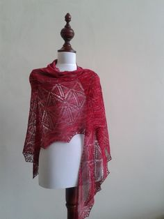 Lucy's mannequin with homemades shawls..