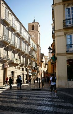 Granada Street in Malaga Centre (Andalusia, Spain)