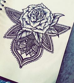 #Mandala #tattoo #design #fineliner
