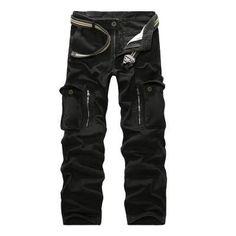 Camo Combat Loose Baggy Cargo Pants