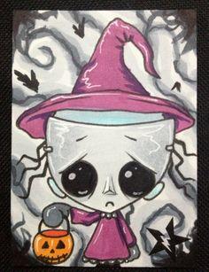 Sugar Fueled Shock The Nightmare Before Christmas NBC lowbrow pop surrealism creepy cute big eye ACEO mini print