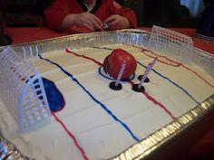 Hockey Party - hockey cake