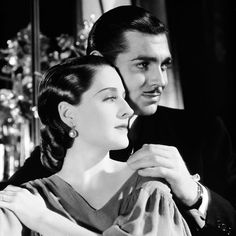 Clark Gable y Norma Shearer.