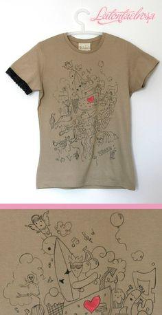Latontaelrosa camiseta t-shirt ilustración illustration accesorios accessoires ropa clothes packaging regalos gift miraquechulo