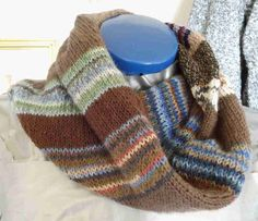 Remaining utilization for sock wool - knitting and crochet - # crochet . Remaining utilization for sock wool – knitting and crochet – Knitting Socks, Knitted Hats, Knitting Scarves, Brown Socks, Baby Tie, Thing 1, Knit Patterns, Refashion, Knitting Projects