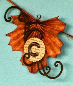 Gina's Designs: Freebie Friday Fold Up Leaf