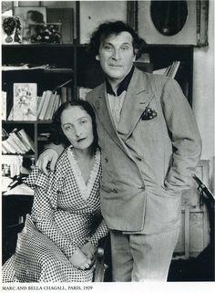 Andre Kertesz - Marc and Bella Chagall (1929)  Que gran pareja y que solo se quedo con su fallecimiento.