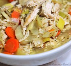 Clean Eating Chicken Soup from The Gracious Pantry {really filling and healthy - the parsnips were a great addition}