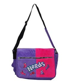 af5d47de93fb Purple  amp  Pink Sweet Thangs Nerds Messenger Bag