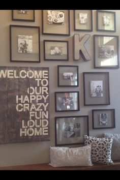 Gallery Reclaimed Wood Projects, Pallet Projects, Rustic Entryway, Gallery Wall, Decorating Ideas, Decor Ideas, Craft Ideas, Frame, Creative