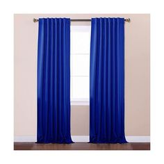 Rose Street Royal Blue 52 x 84 Curtain Panel ($56) ❤ liked on Polyvore featuring home, home decor, window treatments, curtains, blackout window panels, patterned curtains, blackout curtain panels, royal blue curtains and black out window panels