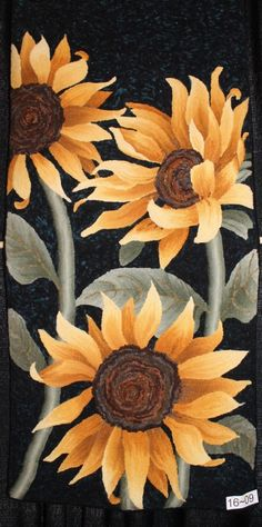 Great Sunflowers, nicely shaped & shaded in {wide-cut}