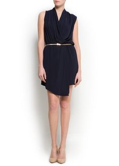 Asymmetric wrapped dress