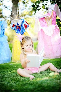 kid photography...cute idea for little girls who believe in fairy tales & love princesses! I love the innocence.