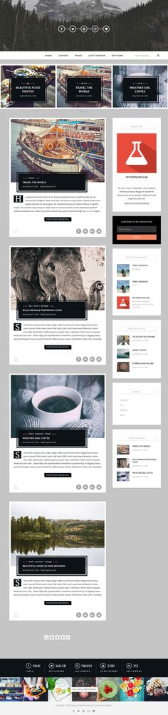 Maple Blogger Template:  Maple is a simple and bold, modern and professional blogger template ideal for writing your stories attractively. Maple Blogger Template has a lot of features and widgets, this theme is 100% responsive so it is compatible with many devices, no need for coding as it is very customizable, also it is search engine optimized. Maple is the theme you will ever need to buy as a traveler/writer.  http://www.premiumbloggertemplates.com/maple-blogger-template/