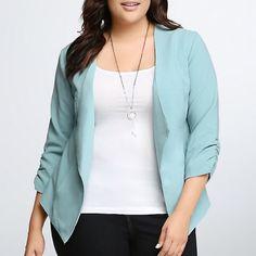 NWT torrid size 4 drape front blazer NWT torrid size 4 drape front blazer . Gorgeous color casual fit. Nice light mesh lining and working pockets ! torrid Jackets & Coats Blazers