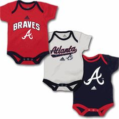 Atlanta Braves Baby Outfits (3 -Pack)