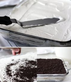 So my cousin had a dessert bracket that corresponded with the NCAA tournament. The final came down to Ice Cream Cake vs Apple Pie. I just happened to have an Ice Cream Cake recipe, so I offered t… Oreo Ice Cream, Ice Cream Desserts, Frozen Desserts, Just Desserts, Delicious Desserts, Dessert Recipes, Whipped Cream, Frozen Treats, Dessert Ideas