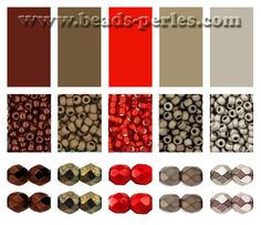 Combinaciones de color: Paleta 5 - Beads Perles Boutique
